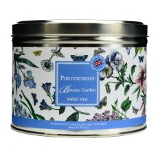 Portmeirion Botanic Garden Sweet Pea 3 Wick Waxed Filled Silver Tin