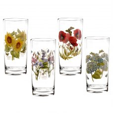 Botanic Garden High Ball Set of 4 Assorted Motifs