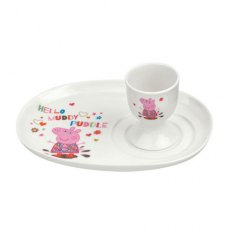 Portmeirion Peppa Pig Egg Cup and Soldier Set