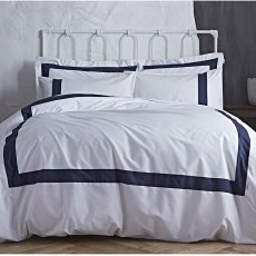 Turner Bianca Tailored Navy Double Duvet Set