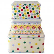 Emma Bridgewater Polka Dot Set of 3 Square Cake Ti