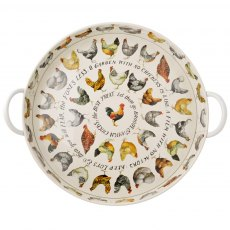 Emma Bridgewater Hen Steel Tray with Handles