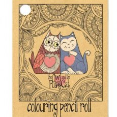 The Owl & The Pussycat Cork Colouring Pencil Roll