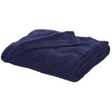 Turner Bianca Soft Knit Navy Throw