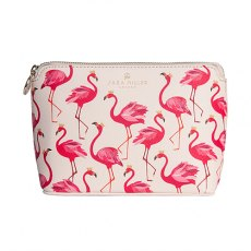 Sara Miller Flamingo Small Luxury Cosmetic Bag
