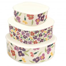 Emma Bridgewater Wallflower set 3 Storage Boxes