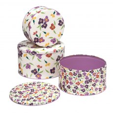 Emma Bridgewater Wallflower Set of 3 Round Cake Ti