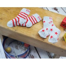 Blade & Rose Grey Marl & Red Socks 6-12m