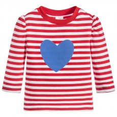 Blade & Rose Stripes & Blue Heart Top