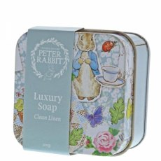 Peter Rabbit Clean Linen Soap In A Tin