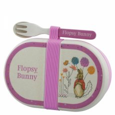 Flopsy Organic Snack Box With Cutlery Set
