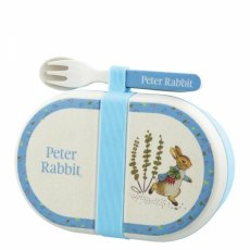 Peter Rabbit Organic Snack Box & Cutlery Set