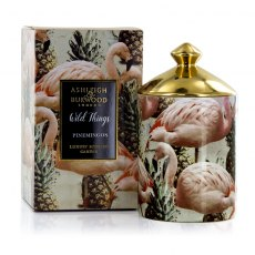Wild Things Candle Pinemingos Coconut & Lychee Luxury Scented Candle