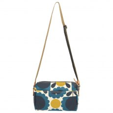Orla Kiely Scallop Flower Spot Small Cross Body Bag - Denim