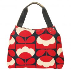 Orla Kiely Spring Bloom Zip Shoulder Bag - Ruby