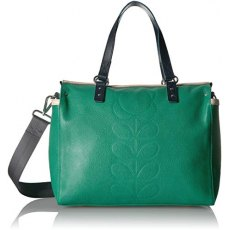 Orla Kiely Embossed Flower Zip Messenger Bag - Jade