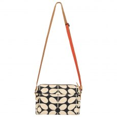 Orla Kiely Sixties Stem Small Cross Body Charcoal Blue