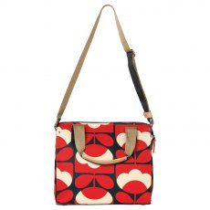Orla Kiely Spring Bloom Zip Messenger Ruby