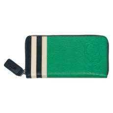 Orla Kiely Big Zip Leather Wallet - Jade