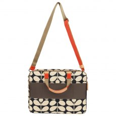 Orla Kiely Sixties Stem Work Bag - Charcoal Blue