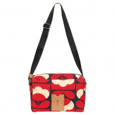 Orla Kiely Spring Bloom Flight Bag - Ruby