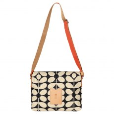 Orla Kiely Sixties Stem Medium Messenger Bag - Charcoal Blue