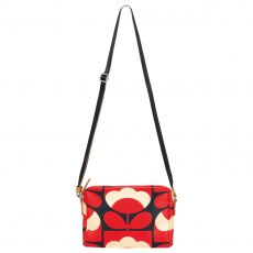 Orla Kiely Spring Bloom Small Cross Body Bag - Ruby