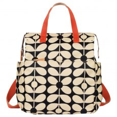 Orla Kiely Sixties Stem Backpack Baby Bag - Charcoal Blue