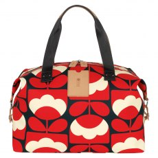Orla Kiely Spring Bloom Medium Zip Holdall - Ruby