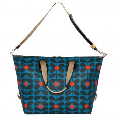 Orla Kiely Sixties Stem Large Zip Holdall - Kingfisher