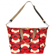 Orla Kiely Spring Bloom Large Zip Holdall - Ruby