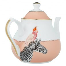 Yvonne Ellen Cockatoo and Zebra Teapot
