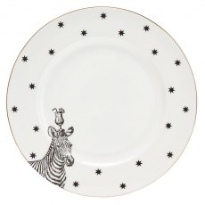 Yvonne Ellen Zebras And Cocktails Side Plate