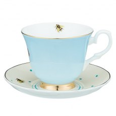 Yvonne Ellen Zebra and Parrot Teacup and Saucer