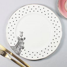 Yvonne Ellen Zebras And Cocktails Dinner Plate