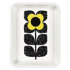 Orla Kiely  Scribble Square Flower Enamel Roaster in Primrose