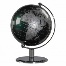 "Fir Green & Chrome 6"" Desk Globe"