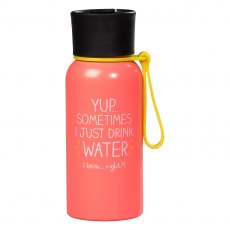 Happy Jackson Water Bottle 'Yup Sometimes I Just Drink Water'