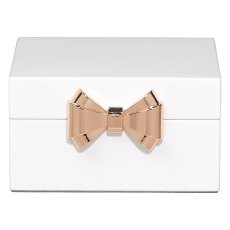 Ted Baker Small White lacquered Jewellery Box