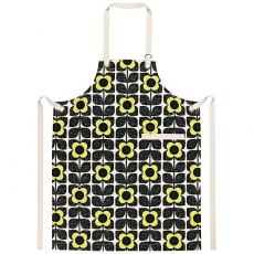 Orla Kiely Scribble Square Flower Apron in Primrose