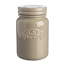 Kilner Ceramic Push Top Moon Grey Jar 0.6L