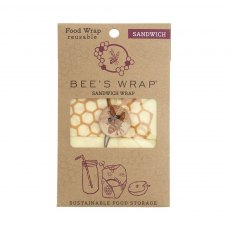 Bee's Wrap Sandwich Wrap Honeycomb Print