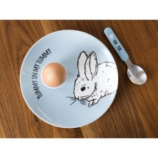 Into The Wild Little Explorer Bunny 3 piece Breakfast Set