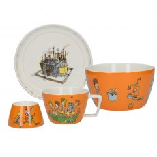 Roald Dahl Charlie And The Chocolate Factory 4 piece Stacking Breakfast Set