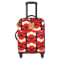 Orla Kiely Spring Bloom Travel Cabin Case - Ruby