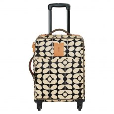 Orla Kiely Sixties Stem Travel Cabin Case Charcoal Blue