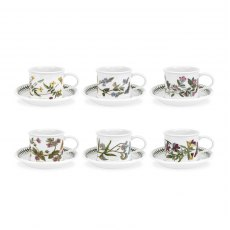 Botanic Garden Tea Cup and Saucer Set of 6