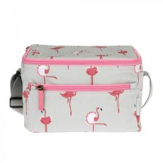 Sophie Allport Flamingos Oilcloth Lunch Bag