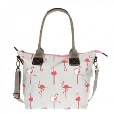 Sophie Allport Flamingos Oilcloth Mini Oundle Bag