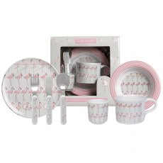 Sophie Allport Flamingos Children's 7 piece Melamine Set